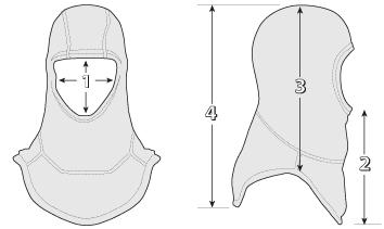 /></p><ul><li>1.) Face opening is circular and measures between 4.6